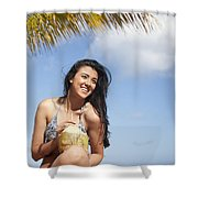 Tropical Vacationer Shower Curtain by Brandon Tabiolo