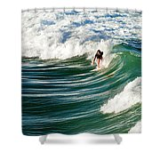 Tropical Wave Shower Curtain by Laura Fasulo