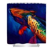Trout Dreams Shower Curtain by Savlen Art
