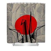 Tsuru Shower Curtain by Cheryl Young