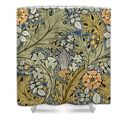Tudor roses thistles and shamrock Shower Curtain by Voysey