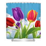 Tulip Garden Shower Curtain by Sarah Batalka