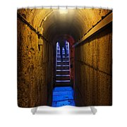Tunnel Exit Shower Curtain by Carlos Caetano