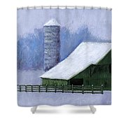 Turner Barn in Brentwood Shower Curtain by Janet King