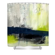 Turning Point - contemporary abstract painting Shower Curtain by Linda Woods
