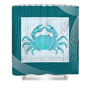 Turquoise Seashells Xix Shower Curtain by Lourry Legarde
