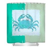 Turquoise Seashells Xv Shower Curtain by Lourry Legarde