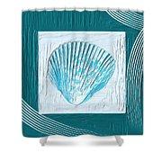 Turquoise Seashells Xxiii Shower Curtain by Lourry Legarde