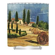 Tuscan Dream 2 Shower Curtain by Debbie DeWitt
