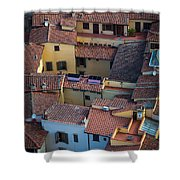 Tuscan Rooftops Shower Curtain by Inge Johnsson