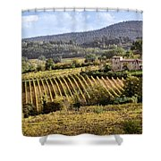 Tuscan Valley Shower Curtain by Dave Bowman