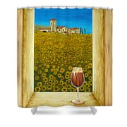 Tuscan View Shower Curtain by Pamela Allegretto