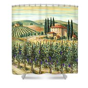 Tuscan Vineyard And Villa Shower Curtain by Marilyn Dunlap