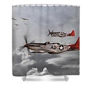 Tuskegee Airmen Shower Curtain by J Biggadike