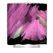 TuTu Stage Left Abstract Pink Shower Curtain by Andee Design