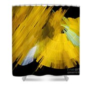 Tutu Stage Left Abstract Yellow Shower Curtain by Andee Design