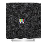 Tv Noise Shower Curtain by Gianfranco Weiss