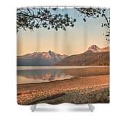 Twilight At Redfish Lake  Shower Curtain by Robert Bales