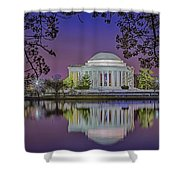 Twilight At The Thomas Jefferson Memorial  Shower Curtain by Susan Candelario