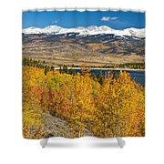 Twin Lakes Colorado Autumn Landscape Shower Curtain by James BO  Insogna