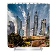 Twin Towers KL Shower Curtain by Adrian Evans
