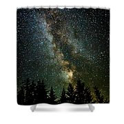 Twinkle Twinkle A Million Stars D1951 Shower Curtain by Wes and Dotty Weber