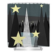 Twinkle Shower Curtain by Val Arie