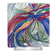Twirls And Cloth Shower Curtain by Kelly K H B