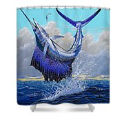 Twisted Off0013 Shower Curtain by Carey Chen