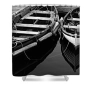 Two At Dock Shower Curtain by Karol  Livote