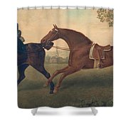 Two Hacks Shower Curtain by George Stubbs