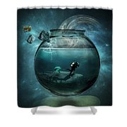 Two lost souls Shower Curtain by Erik Brede