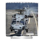 Two Mh-60s Sea Hawk Helicopters Take Shower Curtain by Stocktrek Images