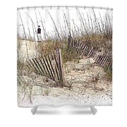 Tybee Lighthouse Shower Curtain by Marcia Colelli