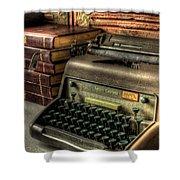 Typewriter Shower Curtain by David Morefield
