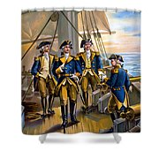 U S Navy Commander In Chief Of The Fleet Shower Curtain by The Werner Company