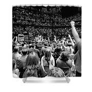 U2-crowd-gp13 Shower Curtain by Timothy Bischoff