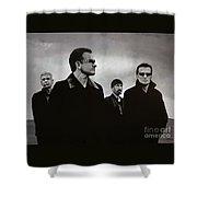 U2 Shower Curtain by Paul Meijering
