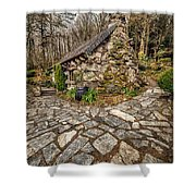 Ugly Cottage Shower Curtain by Adrian Evans