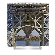 Under The George Washington Bridge I Shower Curtain by Susan Candelario