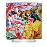 Under The Pergola At Naples Shower Curtain by Umberto Boccioni