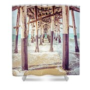 Under The Pier In Southern California Picture Shower Curtain by Paul Velgos