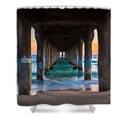 Under The Pier Shower Curtain by Inge Johnsson