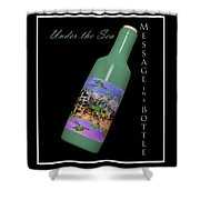 Under the Sea Message in a Bottle Shower Curtain by Betsy C  Knapp