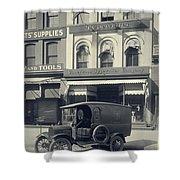 Underwood Typewriter Factory Shower Curtain by Edward Fielding