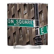 Union Square West I Shower Curtain by Susan Candelario