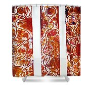 Unique Abstract Shower Curtain by Yael VanGruber