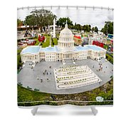 United States Capital Building at Legoland Shower Curtain by Edward Fielding