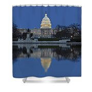 United States Capitol Building Shower Curtain by Susan Candelario