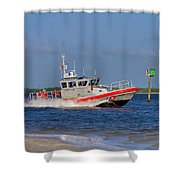 United States Coast Guard Shower Curtain by Kim Hojnacki